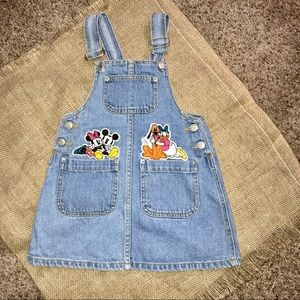 Like new VINTAGE Mickey & Co overall jumper dress!